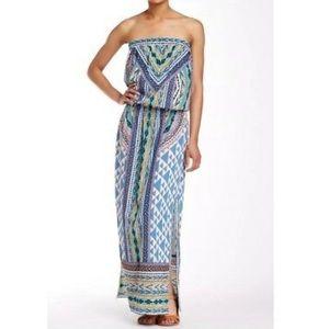Hale Bob Strapless Maxi Dress Printed